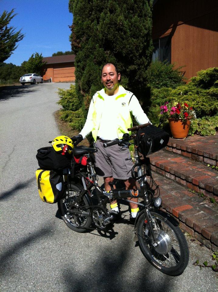 Bob Edmiston with his electric bike.
