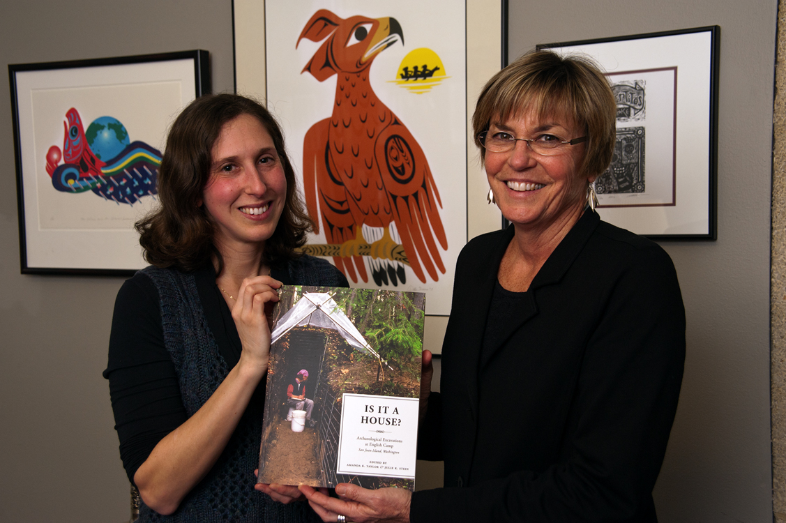 Amanda Taylor, left, and Julie Stein, co-editors of 'Is it a House?' Stein said, 'Every single thing you turn over is a little charge. People always say whats the coolest thign youve found?   Everything I find is the coolest thing I find!'