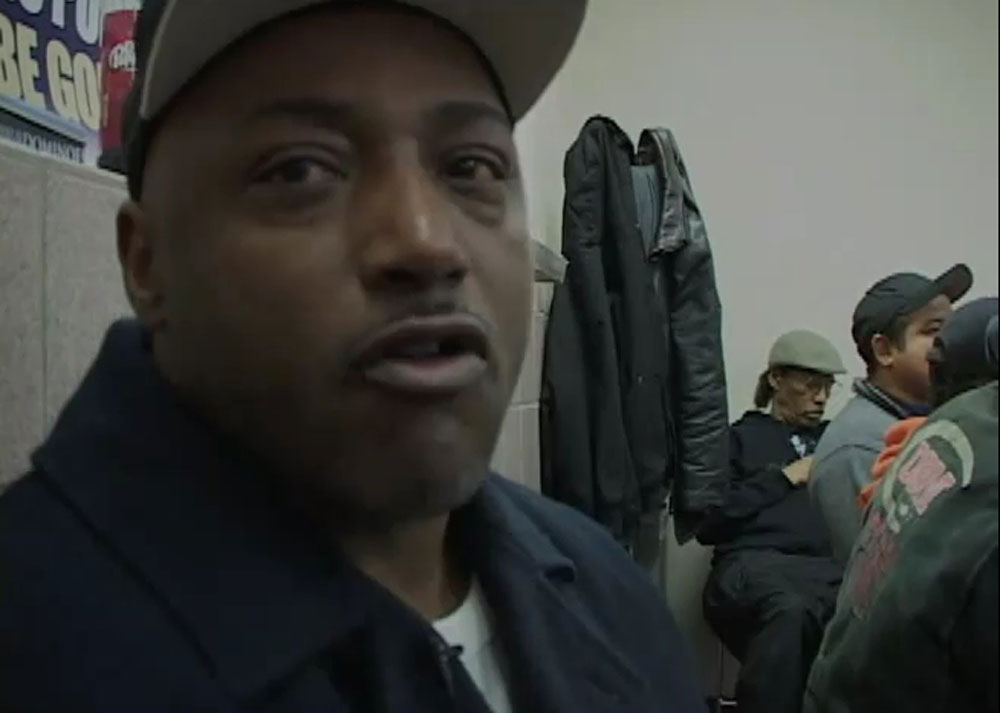 A job seeker at Laborers Local 440 in Seattle waits to see whether there's work available.