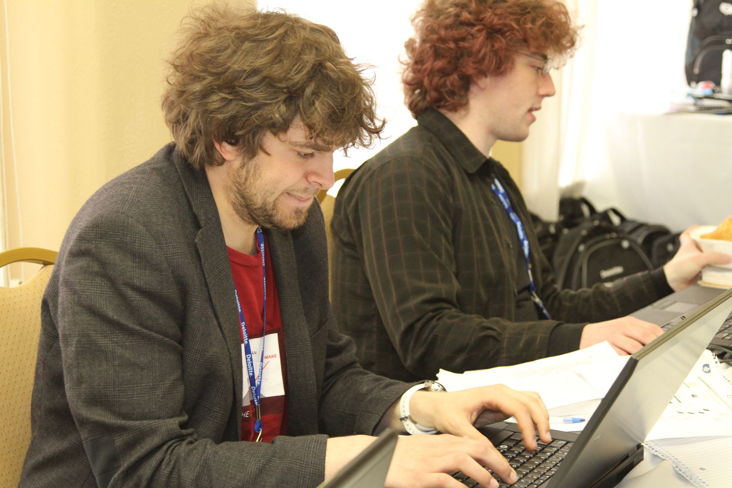Ian Finder and Lars Zornes during the competition.
