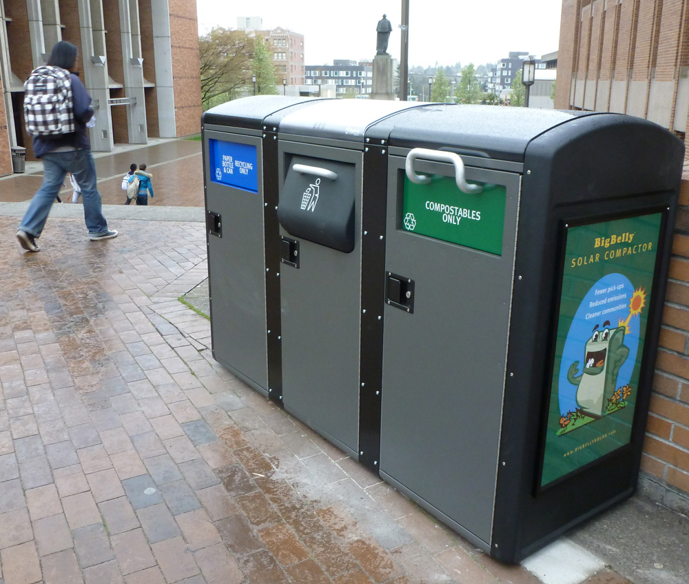 High-tech kiosks are monitored remotely and compact contents, meaning fewer trips to check and empty them.