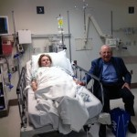 Sarah Davis at Harborview with husband after airlift from Alaska cruise