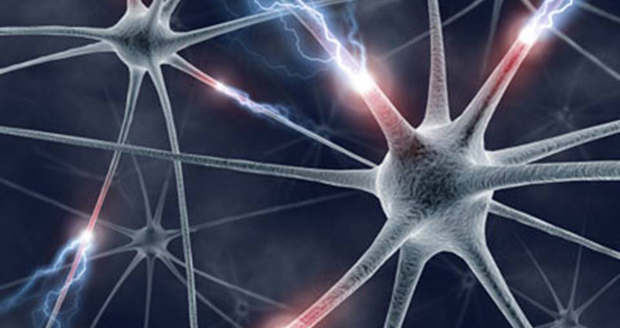 artists concept of brain cell-to-cell signaling