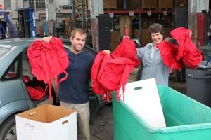 Students donate emergency backpacks