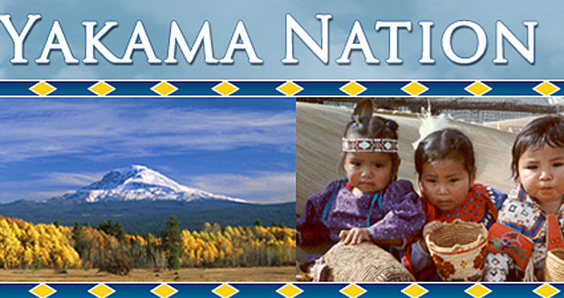 An online banner for the Yakama Nation.