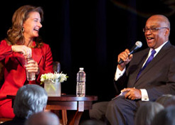 Melinda Gates and Norm Rice answer questions