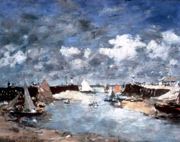 plein air henry art gallery exhibit title Trouville Harbor