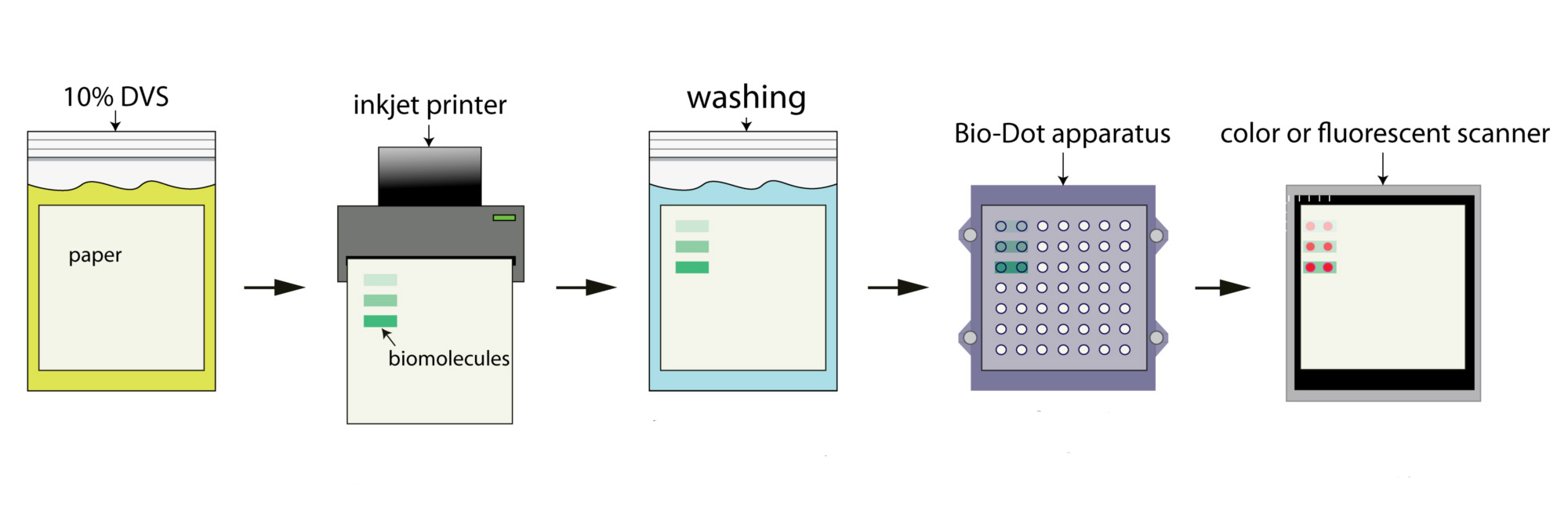 Schematic of the paper-treating process