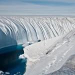 Channel through glacier