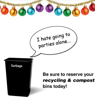 """Garbage can says """"I hate going to parties alone"""""""