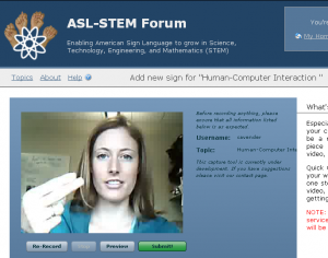 Screen  capture from ASL-STEM Forum