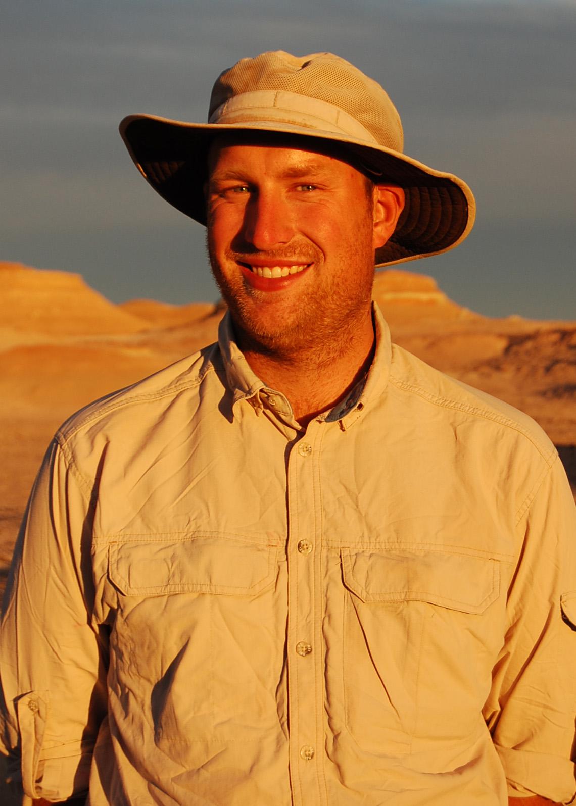 Sterling Nesbitt standing in desert