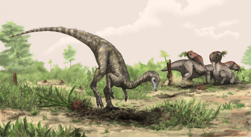 Artist's drawing of what Nyasasaurus parringtoni looked like