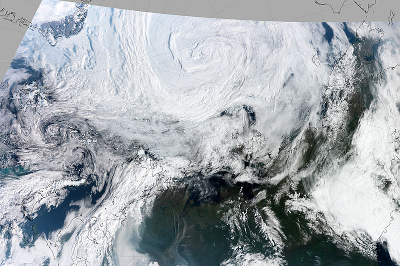 Satellite image of Arctic cyclone