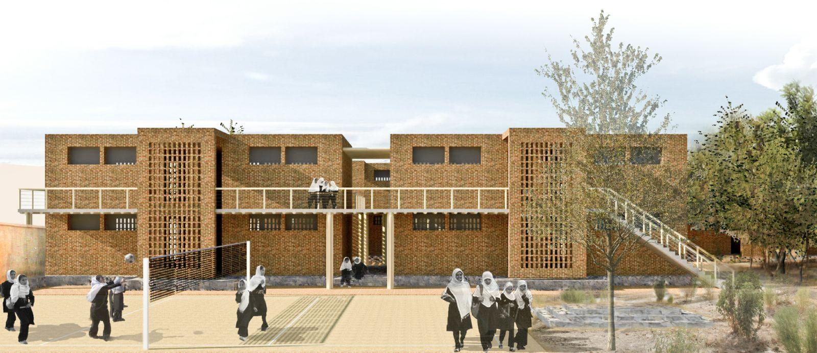 design for Afghani girls school by Yasaman Haji Esmaili and Mariam Kamara