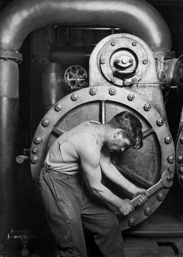 Lewis Wickes Hine. Powerhouse Mechanic -- photo from Henry Art Galelry