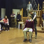 """actors in Undergraduate Theater Society's production of """"Cyrano."""""""