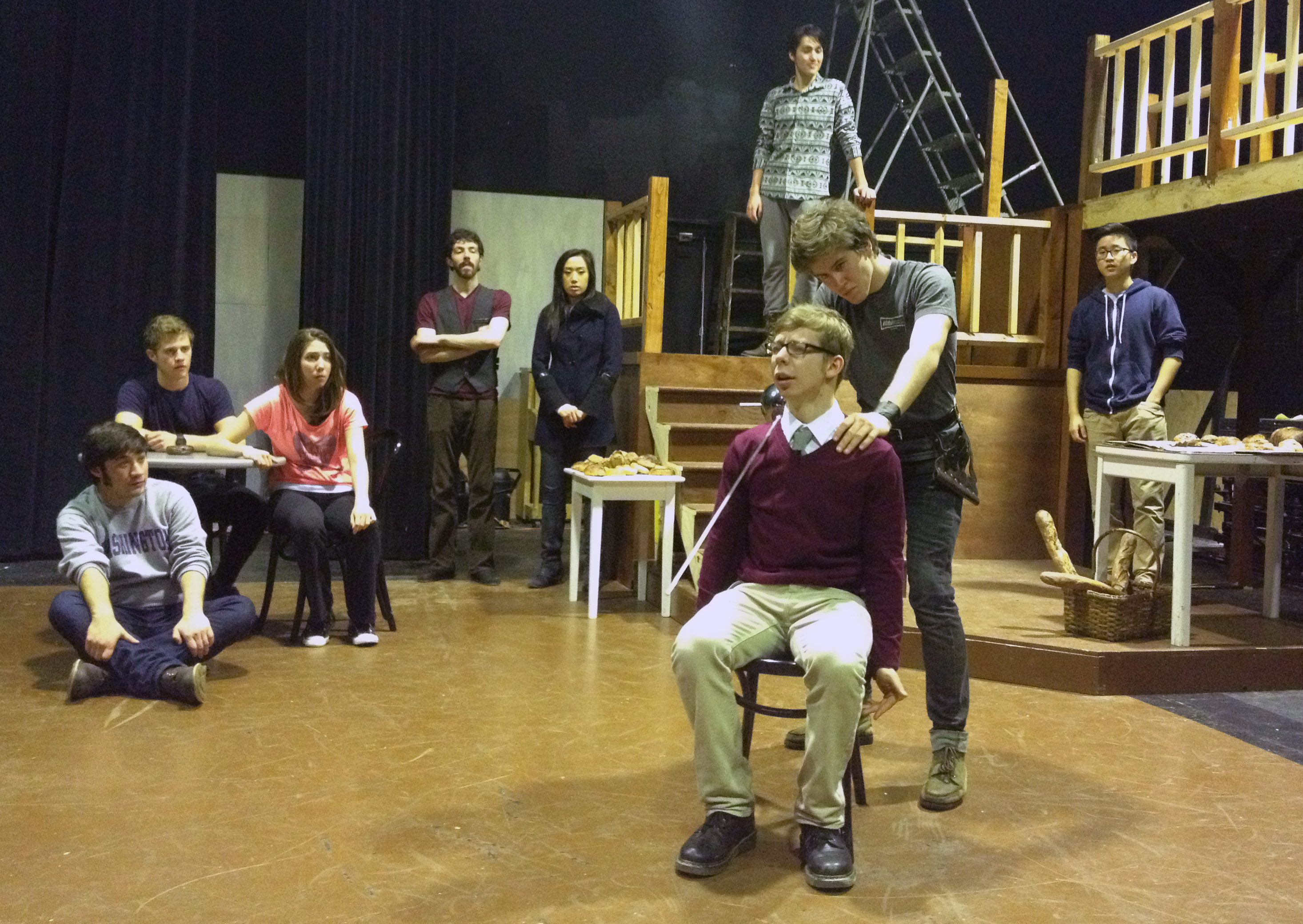 "actors in Undergraduate Theater Society's production of ""Cyrano."""