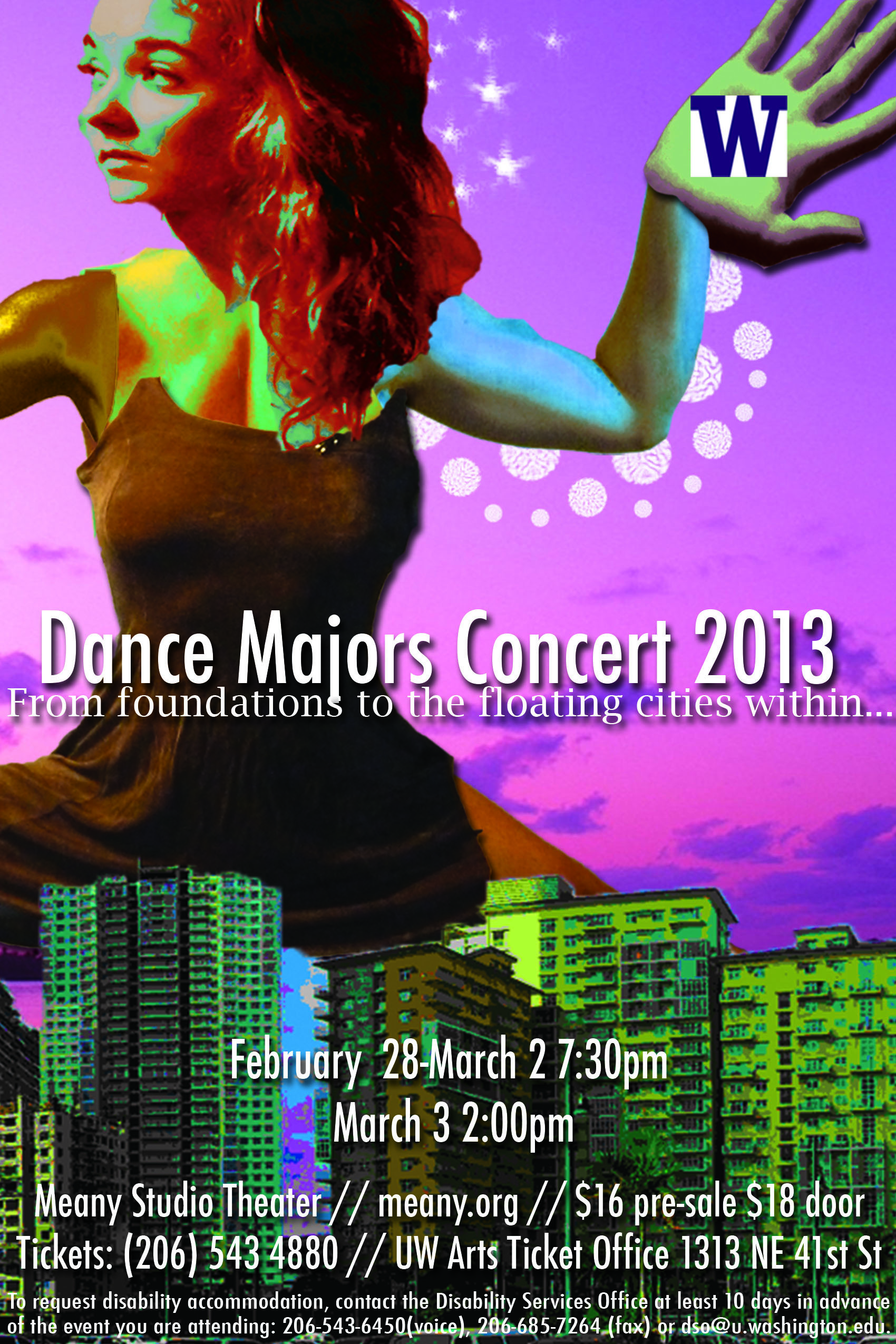 Poster for the 2013 Dance Majors Concert.