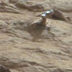 A shiny rock outcropping on Mars.
