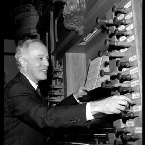 John Grew, guest organist at the UW