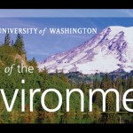 College of the Environment logo and Mount Rainier