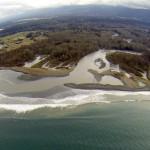 aerial photo of Elwha River