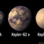 Kepler 62e and 62f compared with the Earth. UW astronomer Eric Agol discovered 62f.