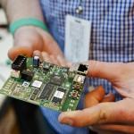 Closeup of circuit board