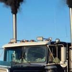 diesel truck spouting exhaust