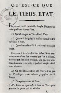 """""""Qu'est-ce que le Tiers-État?"""" or What is the Third Estate? A pamplet by Abbé Emmanuel Joseph Sieyès."""