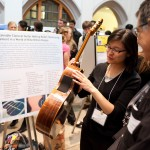 Student researcher discusses her work at 2012 Undergraduate Research Symposium