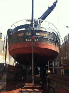 Barnes in dry dock