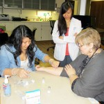 Pharmacy students learn TB screening.