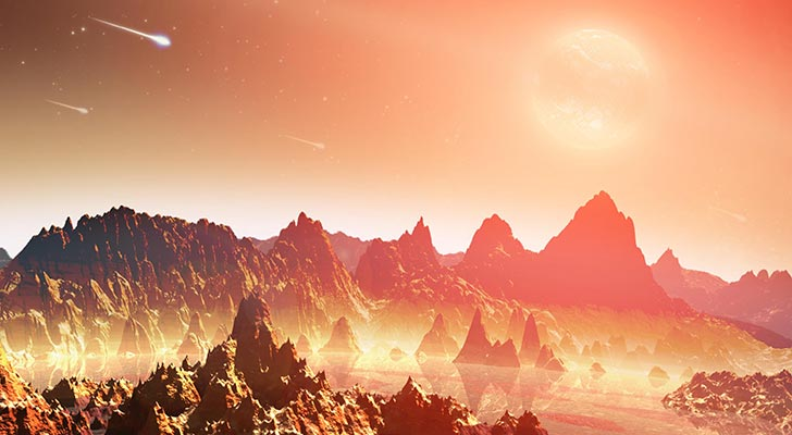 Artist conception of a hypothetical planetp