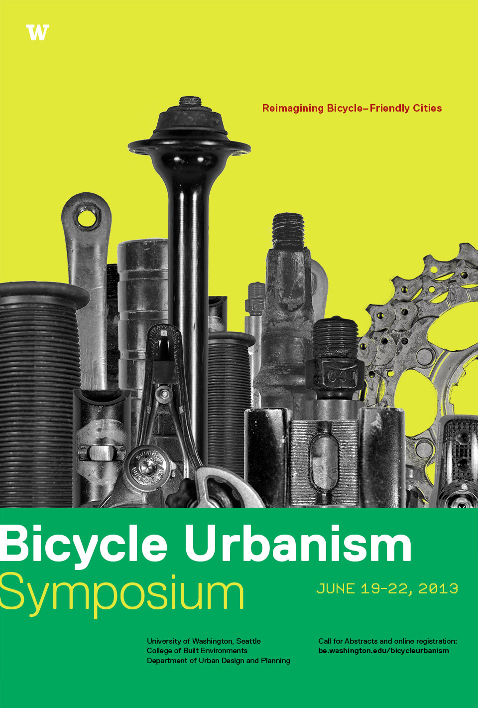 Poster for Bicycle Urbanism symposium at the UW June 19-22, 2013