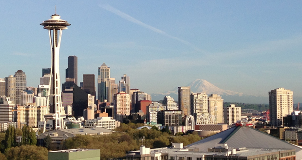Summertime in Seattle, as seen from the Queen Anne neighborhood.