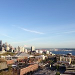 A summer day in Seattle as seen from the Queen Anne neighborhood.