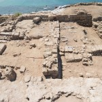 A view from above: After six weeks of excavation, Stroup says, the students have become fellow researchers and archaeologists, and have both learned about the past and contributed to our knowledge of it. Here, a view down into the Roman period remains of our area, at the UW's Tel Dor archaeological site.