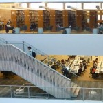 The second and third floors of Odegaard library.