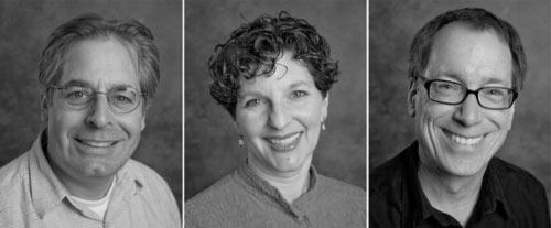Headshots of three people
