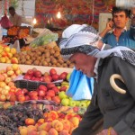 A market scene in Erbil, Iraq, from September 2011.