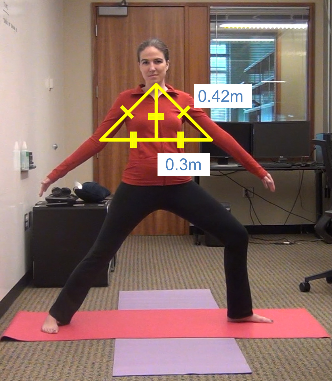Example of how the Kinect reads incorrect body posture.