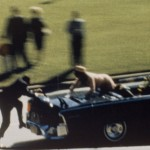 A moment from the film show by Abraham Zapruder on Nov. 22, 1963.