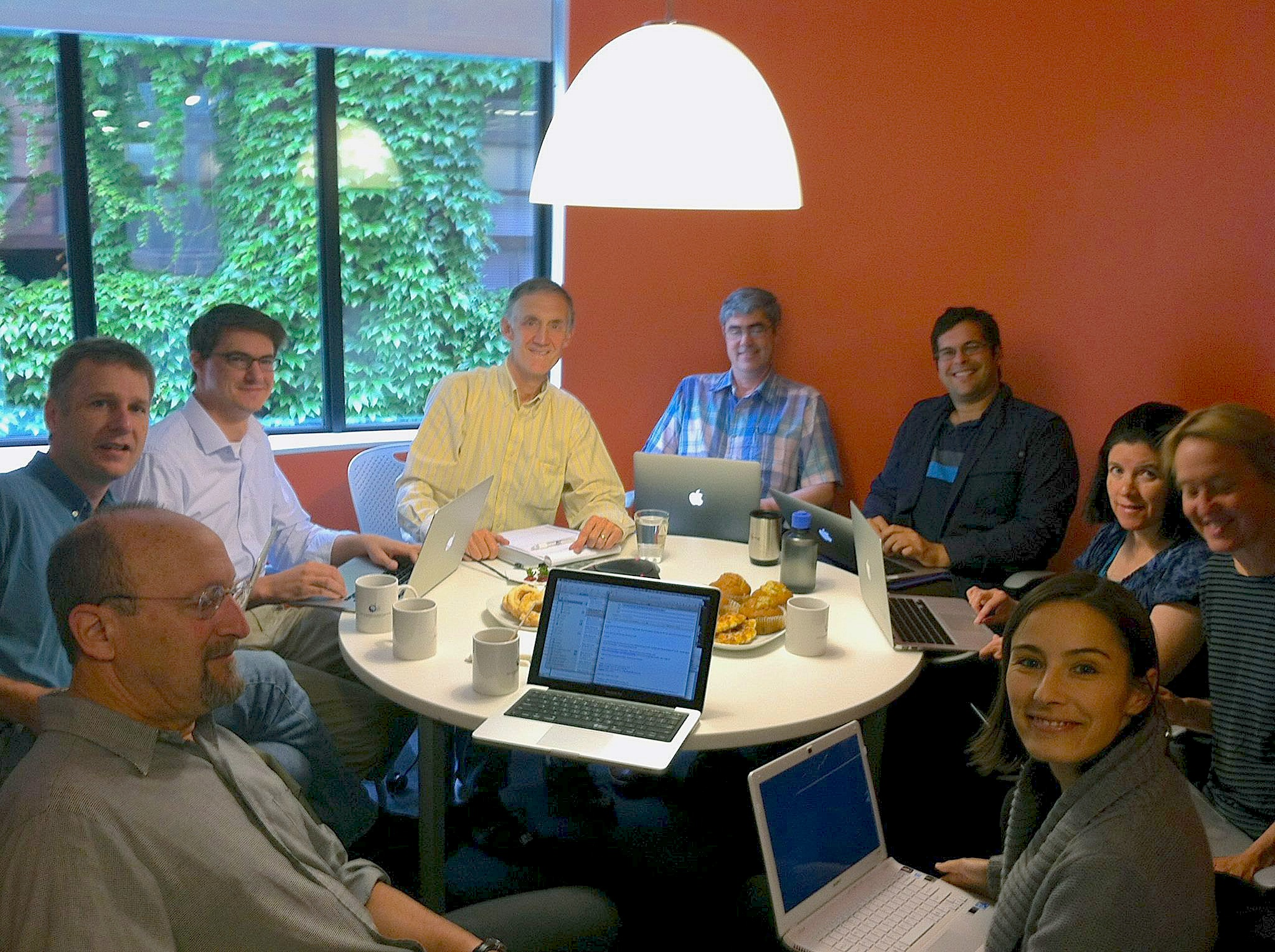 UW faculty members are seen during a proposal review session last summer.