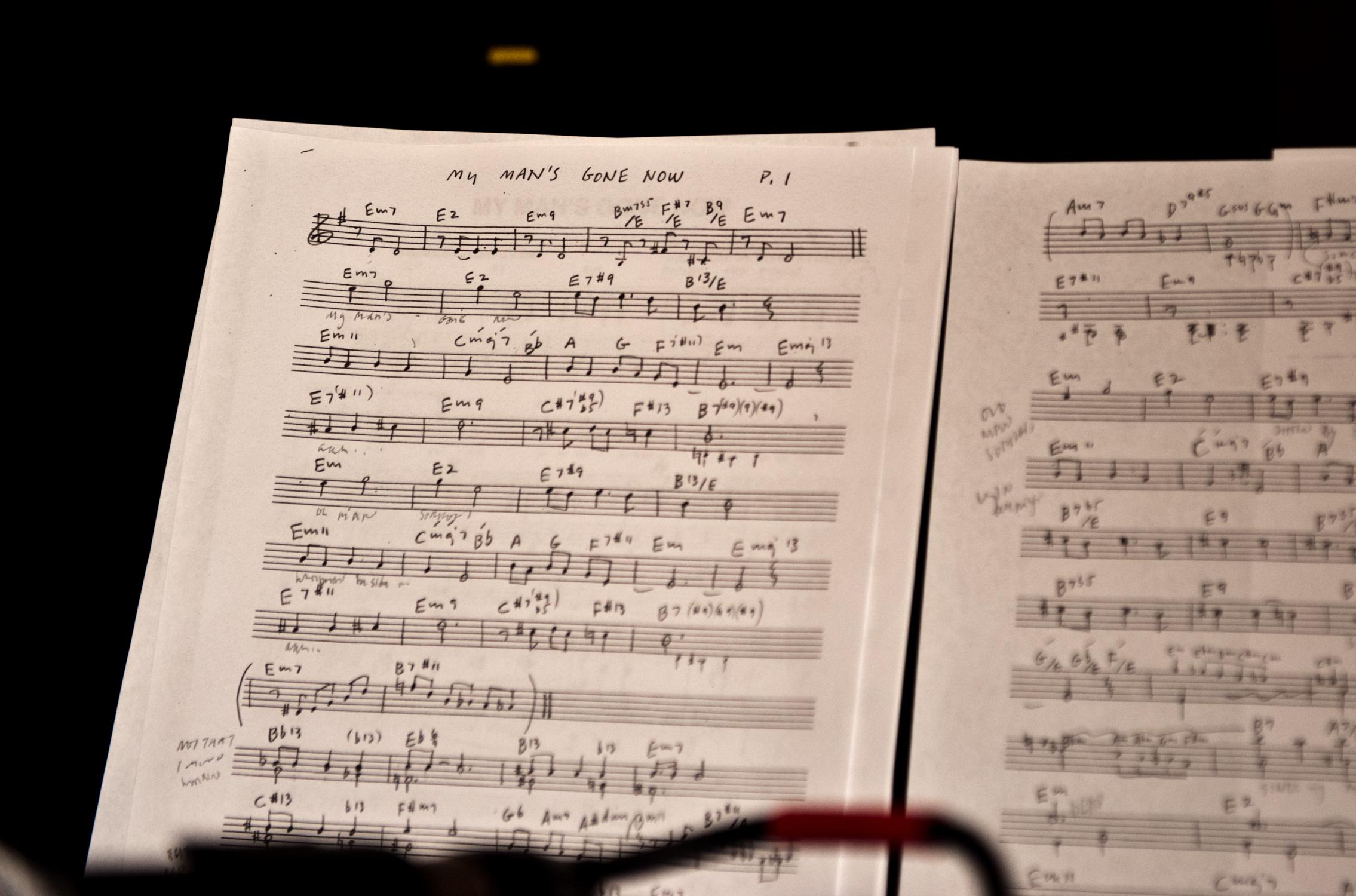 bill frisell guitar cuong vu trumpet rehearsal sheet music