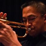 Man plays trumpet