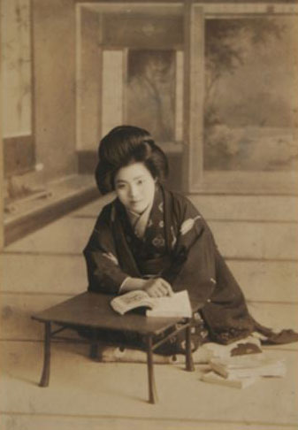 "Untitled portrait from the Henry Art Gallery's exhibit, ""Camera Nipponica: Photographs from Japan, 1880–1930."""