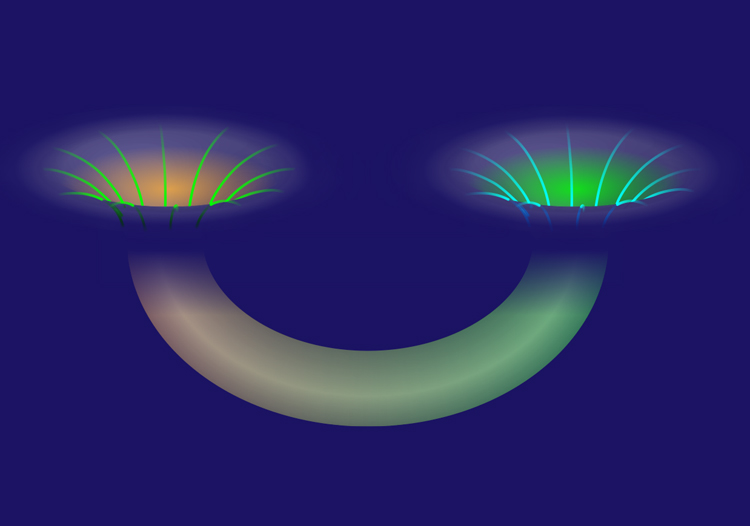 spooky action builds a wormhole between entangled particles uw news