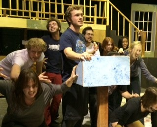 """The cast of the Undergraduate Theater Society's production of """"Reefer Madness,"""" playing in the Hutchinson Hall Cabaret Theater Jan. 23 through Feb. 2."""